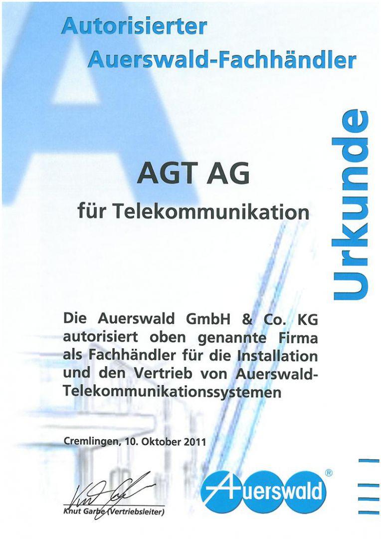 Zertifikat Auerswald